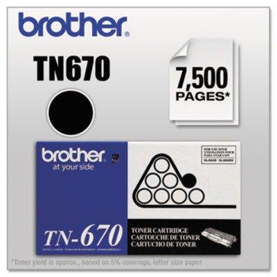 TN670 High-Yield Toner, 7500 Page-Yield, Black (Yield Tn670 High)