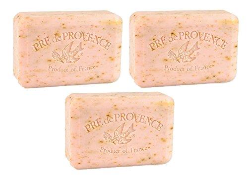 (Pre De Provence Rose Petal Bar Soap 250g 3 Pack)