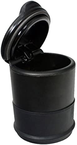 Vaorwne 黒のシガレットセルフ消火灰皿 ポータブル 旅行 ホーム 車オートホルダー