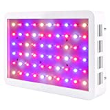 Cheap BLOOMSPECT 300W LED Grow Light: Full Spectrum for Indoor Greenhouse Hydroponic Plants Veg and Blooming