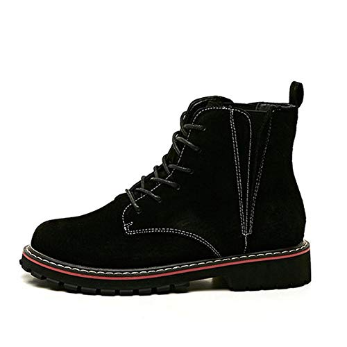 Cruzados Invierno Mujer Botines De Cordones Temprano Para Botas Cuero Otoño Pingxiannv Zapatos Con Sólidas zZUBwBT