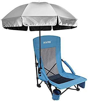 Universal Clamp On Umbrella Adjustable Outdoor UV Protection Beach Silver//Blue