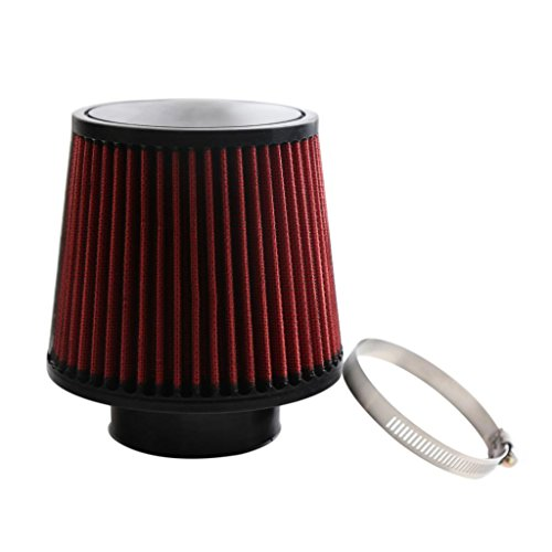 Baoblaze Brand New Durable 3inch Neck Inverted Dual Cone Intake High Flow Air Filter ()