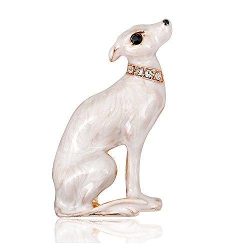 Wiwiw Animal Brooch for Women Men Crystal Rhinestone Brooch Pins Gold Plated (Dog)