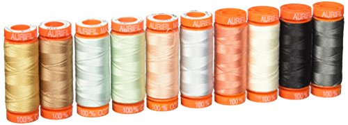 Aurifil BC50HR10 Going Home To Roost By Bonnie Christine 50wt 10 Small Cotton Spools