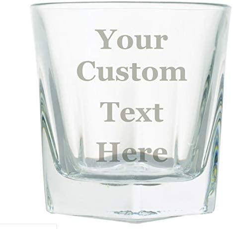 Customized 3D Laser Engraved Personalized Whiskey Scotch Custom Gift New Glass