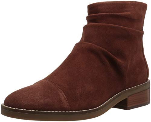 (Cole Haan Women's Riona Grand Back Zip Bootie Ankle Boot, Cherry Mahogany Suede, 11 B)