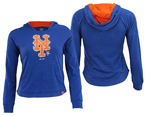 Outerstuff MLB Youth Girls New York Mets The Closer Pullover Hoodie, Medium ()