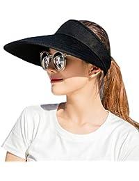 e4e56cfb27eba Sun Visor Hats Women Large Brim Summer UV Protection Beach Cap