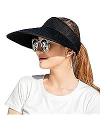 489d94135a CAMOLAND Sombreros de Visera para Mujer, 5,5 Pulgadas, Gran Brida,  protección