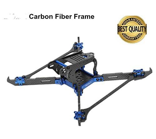 140 FPV Drone Frame Carbon Fiber with 4mm Arms Vertical CNC,X Frame Quadcopter Kit for 1408 1306 1407 1606 Brushless Motor (Carbon Fiber Cnc Frame)