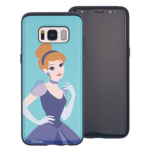 Funda Galaxy S8 [Protección híbrida contra caídas] DISNEY Minnie Mouse Linda Doble Capa Hybrid Carcasas [TPU + PC] Parachoques Cubierta para [ Samsung Galaxy S8 ] - Minnie Mouse Idea Cinderella Aqua (Galaxy S8)