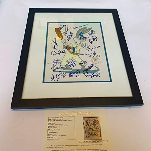 David Cone Hand Signed - 1996 NY Yankees Team Signed Bugs Bunny Limited Edition Hand Painted Cel JSA COA