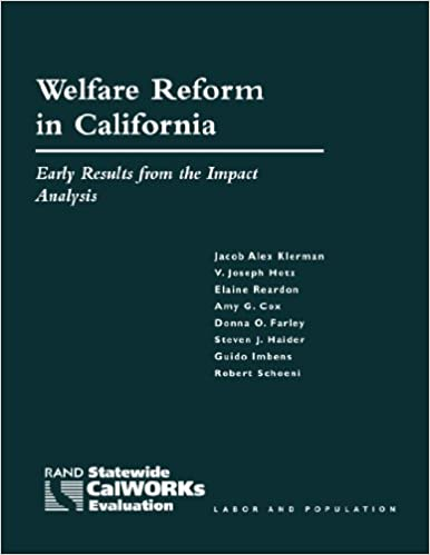 Ebooks informatiques gratuits télécharger pdf Welfare Reform in California: Early Results from the Impact Analysis in French PDF CHM