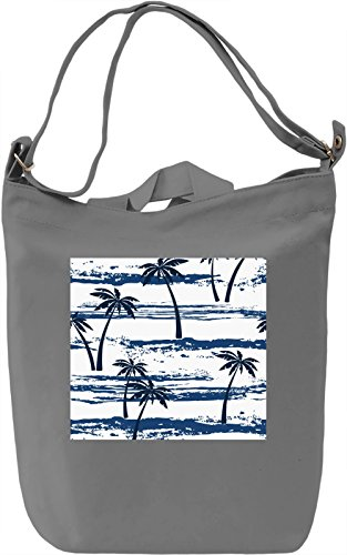 Palm Tree Pattern Borsa Giornaliera Canvas Canvas Day Bag| 100% Premium Cotton Canvas| DTG Printing|