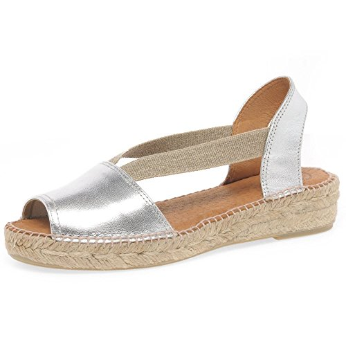 Espadrilles Silver Pons Etna Womens Occasionnel Toni OwZFYqIyw