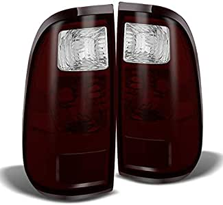 For 08-16 F250//350//450 Red Clear Tail Lights Replacement Rear Brake Lamps LH+RH
