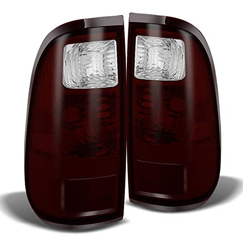 (For 2008-2015 F250/350/450 Aftermarket Red Smoked Lens Tail Lights Brake Lamps LH+RH Pair L+R/2009 2010 2011 2012 2013)