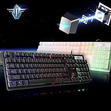 Kai Meng gk3200 USB de teclado Gaming/bombilla/mecánica, Black: Amazon.es: Informática