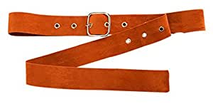 Woolen Pin Buckle Belt Women's Dress Shirt Clothes Decorative Waist Belt, Orange