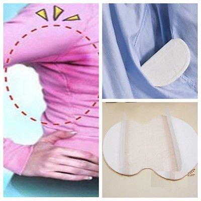 100 piezas Desechables almohadillas para el sudor de axilas protección contra el sudor y desodorante manchas, Sudor Almohadillas puro del color es suave ...
