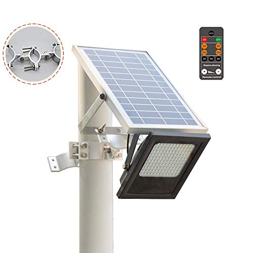 Outdoor Wall 13 Light Bracket (Sunwebcam 120 LED Solar Powered FloodLights Outdoor Security Light 1000 Lumen, IP65 Waterproof with Auto-on/Off and Sensor Detection for Lawn Garden Landscape Shed Lawn (with Remote Control))