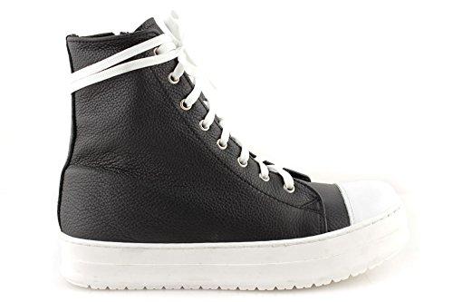 incredible prices stable quality detailing Sneakers Uomo Alte Pelle Scarpe Stringate Suola Alta Nere ...