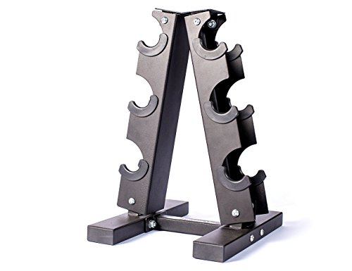 Fitness Alley Steel Dumbbell Rack - 3 Tier Weight Holder & 3 Tier Weight Rack Dumbbell Stand - Dumbbell Holder - Dumbbell Rack Stand - Weight Racks for Dumbbells of All Sizes by Fitness Alley (Image #2)