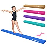 Springee 9ft Balance Beam - Extra Firm - Vinyl Folding Gymnastics Beam for Home - Teal