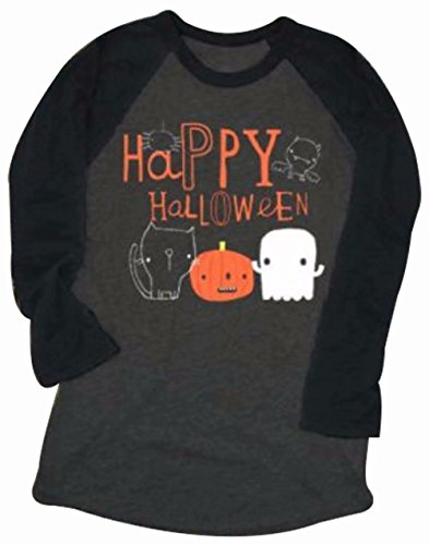 54f38eb3 Pumpkin Easy Halloween Costume Tshirt Tee Women Funny Saying Letter Print  Graphic Raglan 3/4