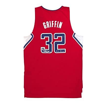 bf6705bb1 Blake Griffin Autographed Adidas Swingman Red Clippers Jersey with   quot 10-11 R.O.Y. quot