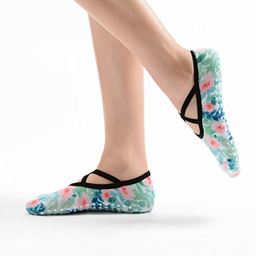 Amazon.com: PinkBTFY Womens Cotton 3D Printed Ankle Socks Pilates Non-Slip Grip Dance Yoga Socks Blue M: Clothing
