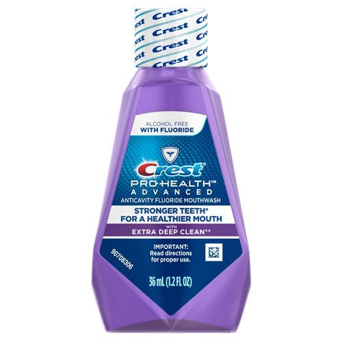 Crest Pro-Health Advanced Anticavity Fluoride Mouthwash/Rinse, Alcohol Free, Travel Size 36 ml (1.2 fl oz) - 12 Pack by Crest (Image #2)