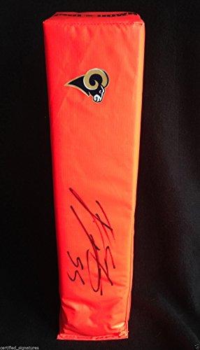 JAMES LAURINAITIS SIGNED FS NFL PYLON ST LOUIS RAMS OHIO STATE BUCKEYES COA J1 ()