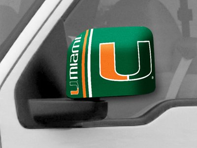 Fan Gear Fanmats University of Miami Large Mirror Cover Size=6''x9'' NCAA-12056 by