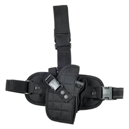Ultimate Arms Gear Tactical Black Drop Leg Holster for Smith & Wesson S&W Pistol/Gun + Magazine Pouch - Ballistic Drop Leg