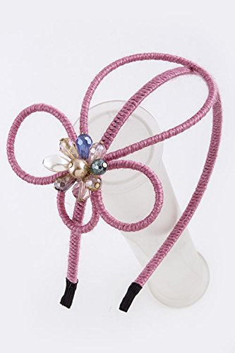BAUBLES & CO FLOAL ACCENT THIN HAIR BAND (Pink)