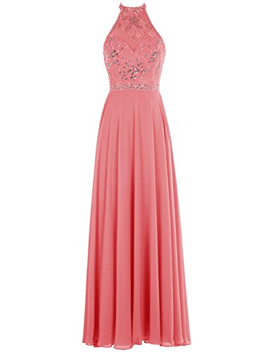 Bbonlinedress Long Prom Dresses Chiffon Beaded Jewel Evening Gowns Lavender 2 (Evening Dress 2011)