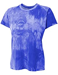 Women's Performance Fitness Clouds Short Sleeve Top With UPF 30