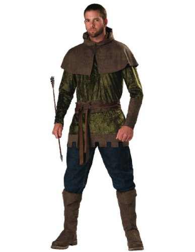 InCharacter Costumes Men's Robin Hood Of Nottingham Costume, Green/Brown, (Robin Hood Tunic)