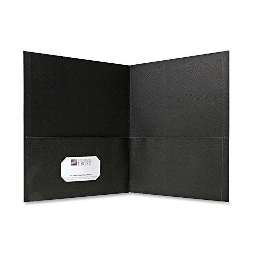 Sparco 71435 Double Pocket Portfolio, 125 Sheet Cap, 25/BX, Black (Cap 125 Sheet)