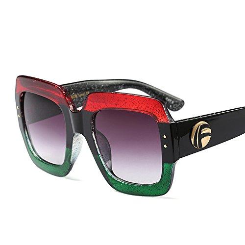Sunglasses Women Men Rivet Nail Oversized Square Glasses Gradient - Crystal Sunglasses Luxury Square Sunglasses