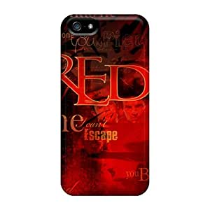 Durable Red Tribute Back Case/cover For Iphone 5/5s