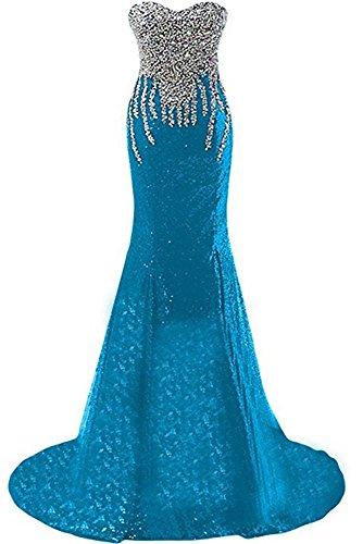 Formato Drehouse Perline Della Più Veste Donne D'onore Il Il Di Vestito Blu Promenade Della Di Sera Delle Sirena Paillettes Damigella Lungo SH5w6dxqq