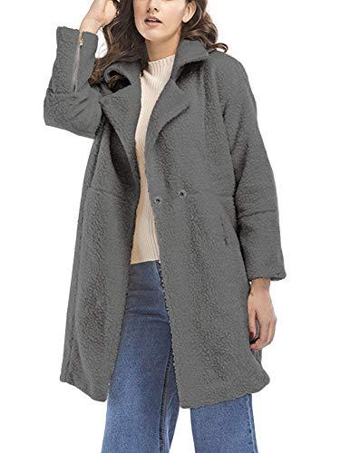Moda Solapa Especial Estilo Grau De Manga Larga Abrigo Outerwear Otoño Prendas Anchas Exteriores Elegantes Mujer Unicolor Chaqueta Chaquetas Invierno A17qvfY