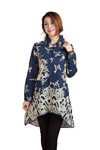 AvaCostume Womens Pattern Sleeve Blouse