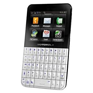 Motorola EX119 BLK/WHT Unlocked Dual-Sim Phone with QWERTY Keyboard, FM Radio, 3 MP Camera and Bluetooth - International Warranty - Black/White