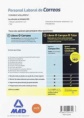 Personal Laboral de Correos y Telégrafos. Temario Volumen 1: Amazon.es: Guillén Gil, Luis Ignacio, FORUM DE CATALUNYA, S.R.L.: Libros