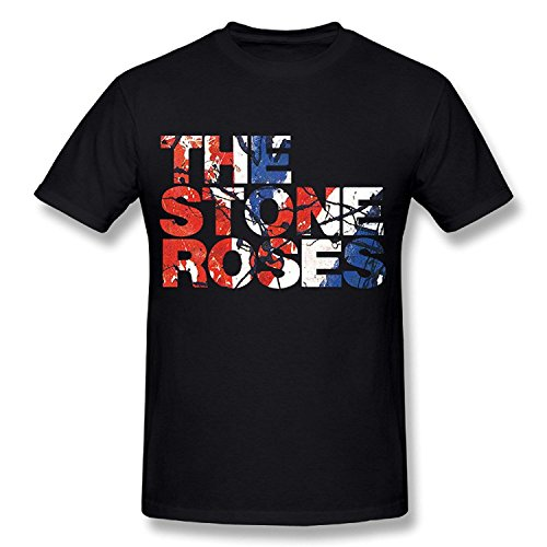Sun-Tshirt The Stone Roses Waterfall Short Sleeve Tee (Ash Rose Grey T-shirt)