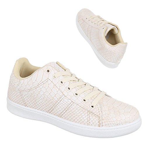 Bas Bas Bas Chaussures Chaussures Chaussures Chaussures Casual Femmes Beige Sneakers design Italien Zy002 wvxOqnv6X